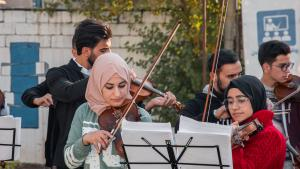 Konzert des Mosul Light Orchestra in Erbil; Foto: Goethe-Institut/Samyan Shaboy