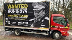 Proteste gegen den Völkermord an den Rohingya in Myanmar vor dem Internationalen Gerichtshof in Den Haag; Foto: DW