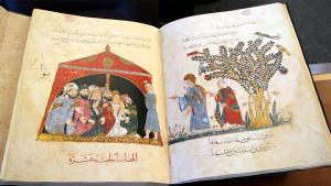 Ausschnitt Maqamat-Manuskript aus dem Irak von 1237; Quelle: University of Victoria/Fine Arts