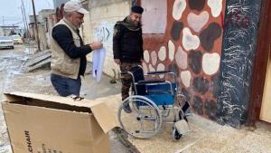 Anlieferung von Rollstühlen in Mossul; Foto: RIRP
