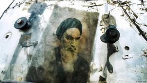 Bild Ayatollah Khomeinis, Führer der Islamischen Revolution; Quelle: Milad Alaei