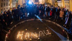 Nach den Schüssen in Hanau - Gedenken an die Opfer; Foto: picture-alliance/dpa/P. Kneffel