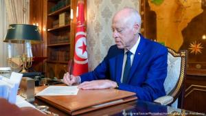 Tunesiens Präsident Kais Saied; Foto: picture-alliance/Photoshot/Handout Tunisian Presidency