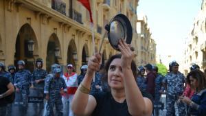 Proteste von Frauenrechtsaktivistinnen im Zentrum von Beirut; Foto: Julia Neumann