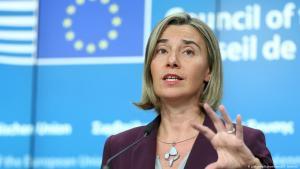EU-Außenbeauftragte Federica Mogherini; Foto: picture-alliance/abaca/D. Aydemir