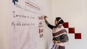 Die Frauenrechtsaktivistin Huda Khayti in Idlib; Foto: Huda Khayti