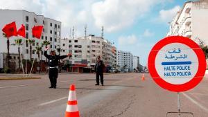 Checkpoint in der marokkanischen Hafenstadt Casablanca am 27. März 2020; Foto: AP