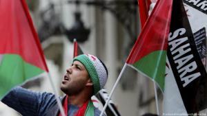 Symbolbild Westsaharakonflikt: Seit Jahrzehnten fordern Menschen aus Westsahara das Ende der Besetzung durch Marokko; Foto: picture-alliance/dpa