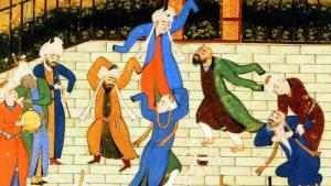 Malerei aus dem Divan des Hafis (Khwaja Shamsu d-Din Muhammad Hafes-e Shirazi); Quelle: picture-alliance