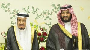 König Salman (links) und Kronprinz Mohammed bin Salman; Foto: picture alliance/abaca/B.Algaloud