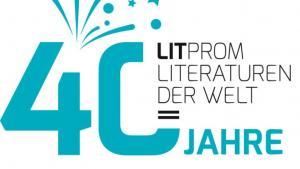 Logo 40 Jahre Litprom; Quelle: www.litprom.de