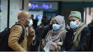 Fluggäste am Flughafen in Tunis; Foto: AFP/Fethi Belaid