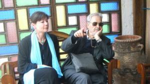 Regina Keil-Sagawe mit Albert Memmi in Essaouira, im März 2010. Foto: GOUFRANI