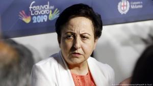 Friedensnobelpreisträgerin Shirin Ebadi als Rednerin auf dem Festival Lavaro in Italien im Jahr 2019; Foto: Zumapress/picture-alliance