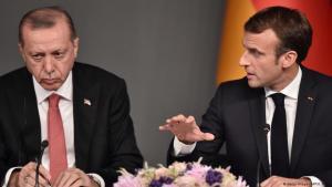 Der türkische Präsident Erdogan und Fankreichs Präsident Macron während des Syrien-Gipfels in Istanbul im Oktober 2018; Foto: Getty Images/AFP/O. Kose