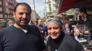Samer Serawan und seine Frau Arij in Berlin; Foto: DW/B. Knight