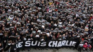 Demonstration in Paris am Jahrestag des Anschlags auf die Redaktion von Charlie Hebdo; Foto: picture-alliance/dpa