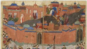 Die Belagerung Bagdads 1258; Quelle: Sayf al-vâhidî et al.  Public domain