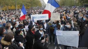 Solidaritätsmarsch für ermordeten Lehrer  in Paris; Foto: Michel Euler/AP/picture-alliance