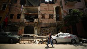 Beschädigte Häuser nach der Explosion im Hafen von Beirut am 4. August; Foto: Reuters/H.MacKay