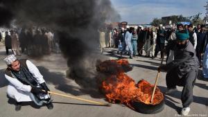Proteste radikaler Islamisten in Pakistan; Foto: AFP/Getty Images/A.Majeed