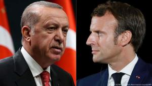 Kombobild Präsident Recep Tayyip Erdogan und Emmanuel Macron (Adem ALTAN and Ludovic Marin/various sources/AFP)