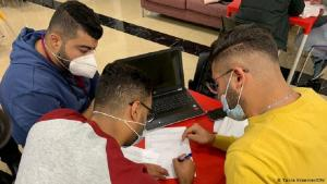 Schüler des ersten Bootcamps von Axsos in Ramallah. Foto: DW/Tania Kraemer