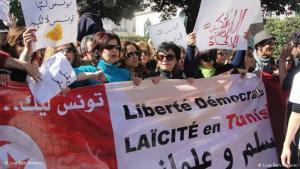 Demonstration 2011 in Tunis: Beim Arabischen Frühling spielten Frauen eine wichtige Rolle. (Foto: Lina Ben Mhenni)