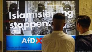 Deutschland: AfD-Plakat gegen die vermeintliche Islamisierung in Köln. (Foto: Picture-alliance / Geisler-fotopresse)