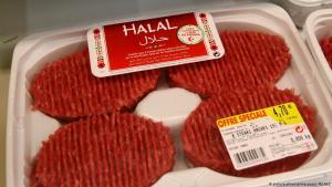 Halal-Fleisch, fotografiert in einem französischen Supermarkt; Thionville, 20.02.2012. Foto: picture-alliance/maxppp/J. PELAEZ
