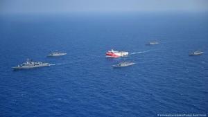 Militär Schiffseskorte für Oruc Reis - East Mediterranean Türkei; Foto: picture-alliance/abaka/Turkish Naval Forces