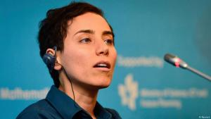 Iranian mathematician Maryam Mirzakhani speaks during a news conference after the Fields Medal awards ceremony at the International Congress of Mathematicians 2014, in Seoul 13 August 2014 (photo: Reuters)