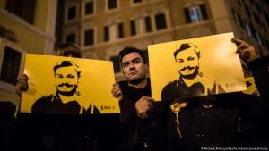 Auch am vierten Jahrestag der Ermordung Giulio Regenis im Januar 2020 forderten Demonstranten in Rom Aufklärung. (Foto: Amoruso/ Pacific Press / Picture Alliance)