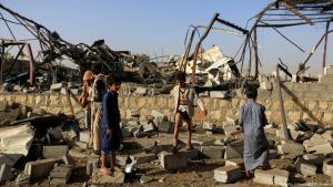 Jemen Luftangriff auf Sanaa; Foto: Getty Images/AFP/M. Huwais