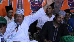 Qawwali-Auftritt bei einem Sufi-Fest in der südindischen Stadt Hyderabad. Foto: Marian Brehmer