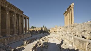 Tempel des Bacchus und Tempel des Jupiter, Baalbek, Lebanon. Foto: I. Wagner/Deutsches Archäologisches Institut, Orient Abteilung