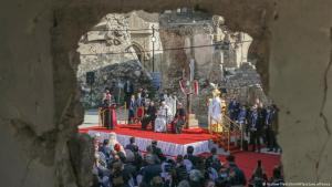Irak Mosul | Besuch Papst Franziskus; Foto: Andrew Medichini/AP/picture-alliance