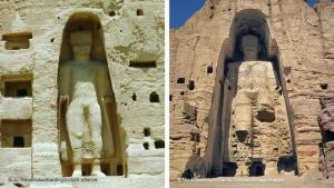 Buddhistisches Zentrum im Bamiyan-Tal: Die Statuen befanden sich an einem der alten Haupthandelswege zwischen China und Südasien. Das Hochtal von Bamiyan, rund 200 Kilometer nordwestlich von Kabul, war ein Zentrum des aus Indien stammenden buddhistischen Glaubens. Mehrere tausend buddhistische Mönche hielten sich im 6. Jahrhundert im Bamiyan-Tal auf.