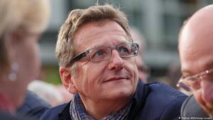 Der sozialdemokratische EU-Parlamentarier Dietmar Koester bei einer EU-Wahlkampfveranstaltung in Dortmund, 02.05.2014; Foto: Ruediger Woelk/imago images