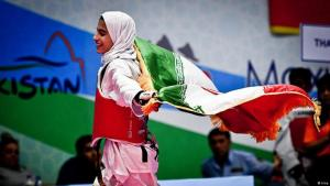 Iranerinnen auf internationaler Sportbühne nur mit Schleier. Foto: Irna
