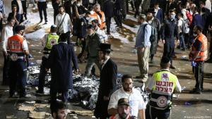 Bei einer Massenpanik in Israel zum jüdischen Fest Lag Baomer sind mindestens 44 Menschen gestorben, mehr als 150 wurden verletzt. (Foto: David Cohen / Reuters)