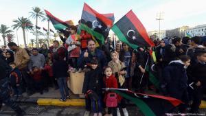 Bange Hoffnung: Kundgebung zum Jahrestag der Revolution in Tripoli .