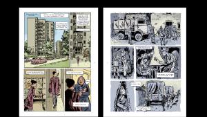 """Illustration von Deloupy aus """"Algeriennes"""", Geschichte von Swann Meralli, übersetzt von Ivanka Hahnenberger (auf Englisch erschienen bei Pennsylvania State University Press)"""