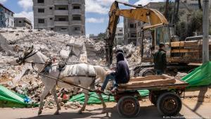 Nach einem israelischen Luftangriff auf Gaza. (Foto: John Minchillo/AP Photo/picture-alliance)