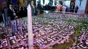 Ein Modell von Ägyptens neuer Verwaltungshauptstadt; Foto: Reuters/Abdallah Dalsh
