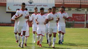 Sportliche Höchstleistungen unter schwierigsten Bedingungen: die Nationalelf Palästinas beim Training in der Gaza City  . (Foto: Marihan Al-Khalidi/zum Wire/Picture Alliance)