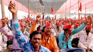Indien Bauern-Protest in Mumbai; Foto: Reuters
