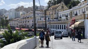 Blick auf die Hafenpromenade Tangers; Foto: Karima Ahdad