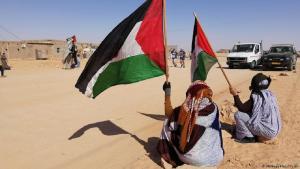 Durchhaltewillen: Kundgebung zum 43. Jahrestag der Demokratischen Arabischen Republik Sahara, Februar 2019. Foto:  DW/Hugo Flotat-Talon