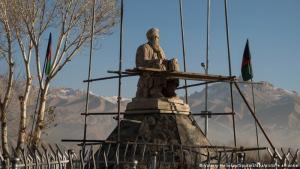 """Statue Abdul Ali Mazari: Medienberichten zufolge sollen die Taliban die Statue von Abdul Ali Mazari, einem politischen Führer der Minderheit Hazara, gesprengt haben. Mazari wurde posthum 2016 zum """"Märtyrer für die Nationale Einheit"""" erklärt. Eigentlich hatten die Taliban im Februar 2021 erklärt, die Kulturgüter des Landes achten zu wollen. Afghanistan verfügt über bedeutende jahrtausendealte Zeitzeugnisse."""